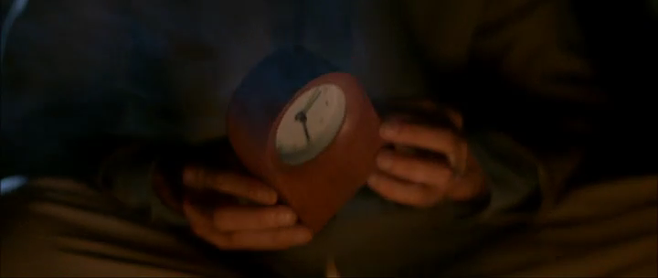 The first time we see the clock